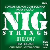ENCORD. NIG N420 VIOLAO AÇO FOLK 6 CORDAS -010″/047″